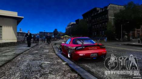 Mazda RX-7 FnF для GTA 4 вид слева