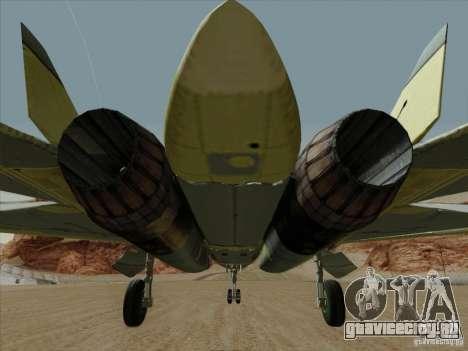 T-50 Pak Fa для GTA San Andreas салон