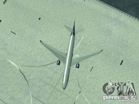 Airbus A330-300 Аeroflot для GTA San Andreas вид сверху
