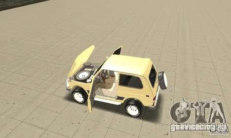 ВАЗ 21213 4x4 для GTA San Andreas вид сзади