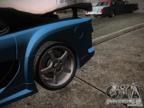 Mazda RX 7 Veil Side для GTA San Andreas вид сзади слева