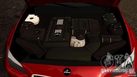 BMW M5 F10 2012 Hamann для GTA 4 вид изнутри