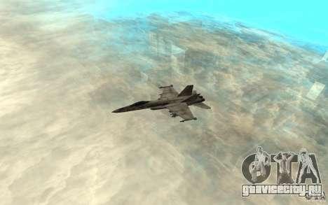 F-18 Hornet для GTA San Andreas вид сзади слева