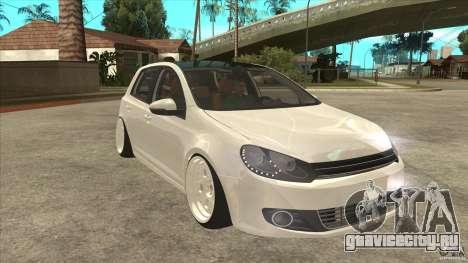 Volkswagen Golf VI 2010 Stance Nation для GTA San Andreas вид сзади