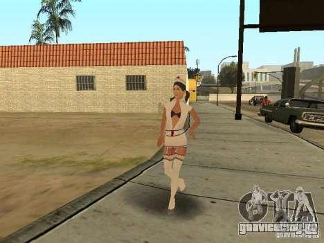 Girlz Medic in Grove для GTA San Andreas