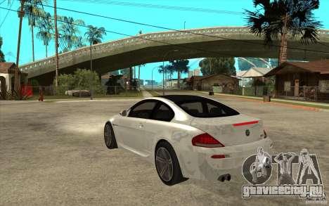 BMW M6 Coupe V 2010 для GTA San Andreas вид сзади слева