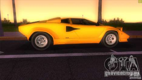 Lamborghini Countach для GTA Vice City вид сзади слева