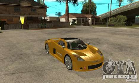 Chrysler ME Four-Twelve Concept для GTA San Andreas вид сзади
