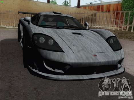 Saleen S7 Twin Turbo Competition Custom для GTA San Andreas вид снизу
