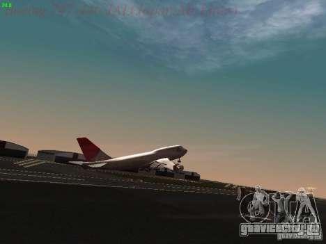 Boeing 747-446 Japan-Airlines для GTA San Andreas вид снизу