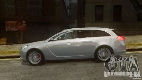 Opel Insignia Sports Tourer 2009 для GTA 4 вид слева