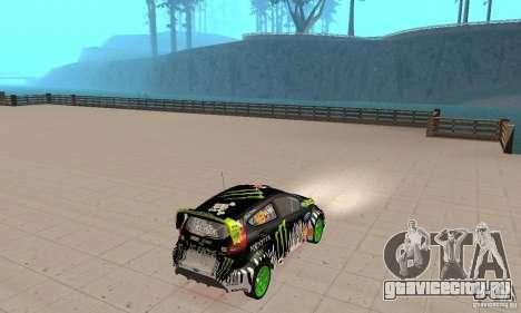 Ford Fiesta 2011 Ken Blocks для GTA San Andreas вид слева