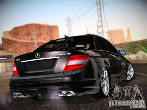 Mercedes-Benz С63 AMG для GTA San Andreas вид слева