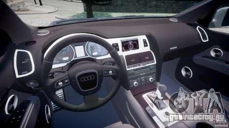 Audi Q7 V12 TDI Quattro Stock  v2.0 для GTA 4 вид сзади