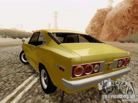 Mazda Savanna RX3 для GTA San Andreas вид сзади