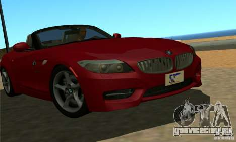 BMW Z4 2010 для GTA San Andreas вид слева