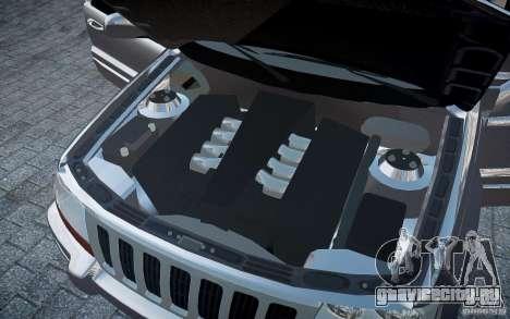 Jeep Grand Cheroke для GTA 4 салон