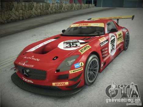 Mercedes-Benz SLS AMG GT3 Black Falcon 2011 для GTA San Andreas