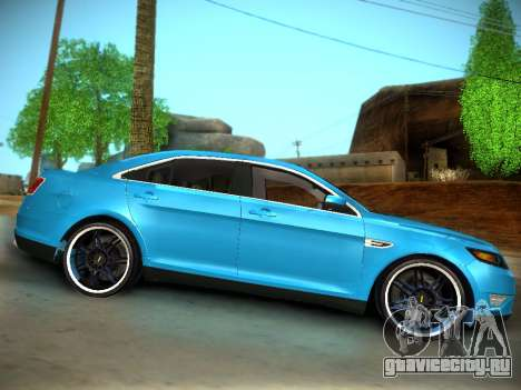 Ford Taurus SHO 2011 для GTA San Andreas вид сзади