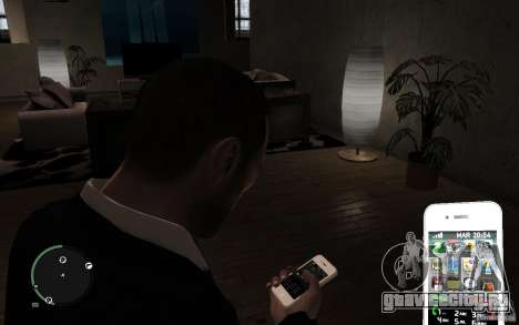 iPhone 4 white для GTA 4