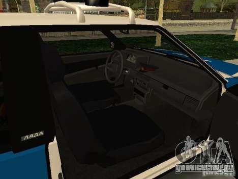 ВАЗ 2108 Милиция для GTA San Andreas вид справа