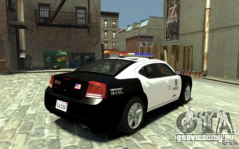 Dodge Charger LAPD V1.6 для GTA 4