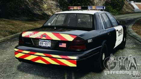 Ford Crown Victoria Police Interceptor 2003 LCPD для GTA 4 вид сзади слева