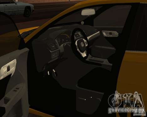 Lexus CT 200h 2011 Taxi для GTA San Andreas вид сзади