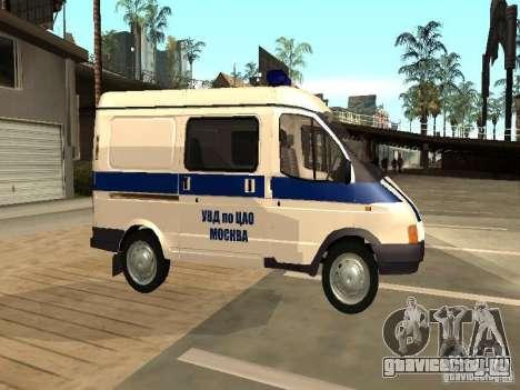 ГАЗ 2217 соболь МИЛИЦИЯ для GTA San Andreas вид слева