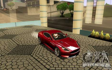 Aston Martin Virage V1.0 для GTA San Andreas вид сверху