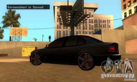 BMW M5 E39 2003 для GTA San Andreas вид сзади слева