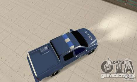 Toyota Hilux Somaliland Police для GTA San Andreas вид сзади слева