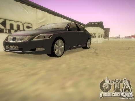 Lexus GS450H для GTA San Andreas вид изнутри
