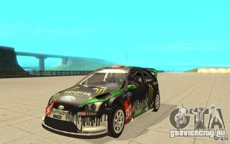 Ford Focus RS WRC 08 для GTA San Andreas вид изнутри