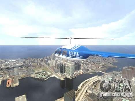 Bell 206 B - NYPD для GTA 4 салон