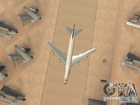 Boeing 747-100 Lufthansa для GTA San Andreas вид сбоку
