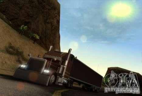 Прицеп для Freightliner Classic XL Custom для GTA San Andreas вид слева
