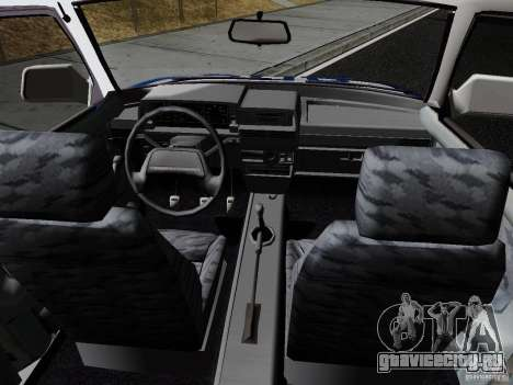 ВАЗ 21099 Полиция для GTA San Andreas вид сзади