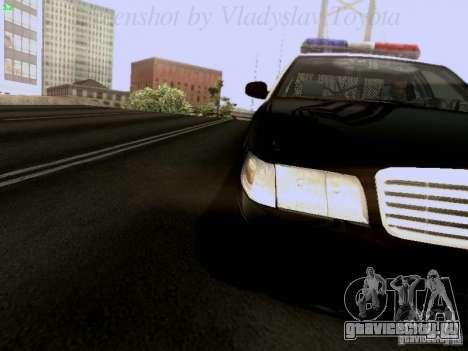 Ford Crown Victoria Los Angeles Police для GTA San Andreas вид сзади