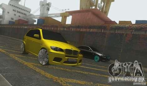BMW X5M Gold Smotra v2.0 для GTA San Andreas вид сзади слева