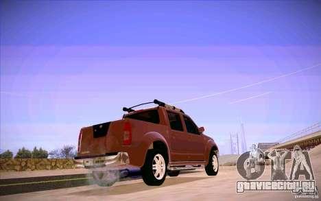 Nissan Fronter для GTA San Andreas вид сзади слева
