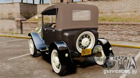 Ford Model T 1924 для GTA 4 вид сзади слева