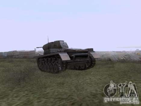 PzKpfw II Ausf.A для GTA San Andreas вид сзади слева