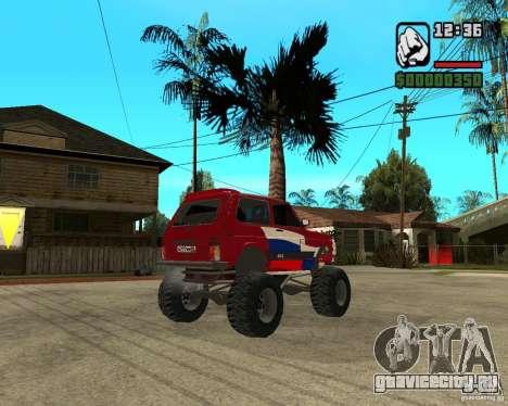 VAZ-21213 4x4 Monster для GTA San Andreas вид сзади