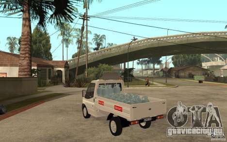 Ford Transit Pickup 2008 для GTA San Andreas вид сзади слева