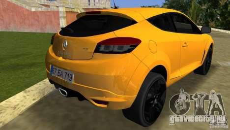 Renault Megane 3 Sport для GTA Vice City вид сзади слева