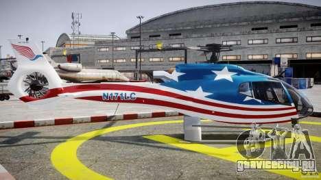 Eurocopter EC 130 B4 USA Theme для GTA 4 вид изнутри