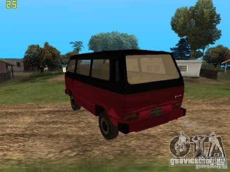 Volkswagen Transporter T3 для GTA San Andreas вид слева