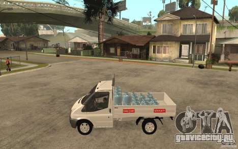Ford Transit Pickup 2008 для GTA San Andreas вид слева