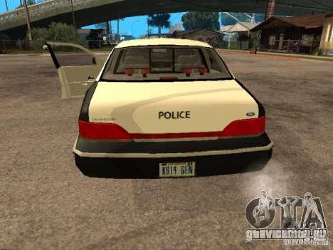 Ford Crown Victoria 1994 Police для GTA San Andreas вид сзади